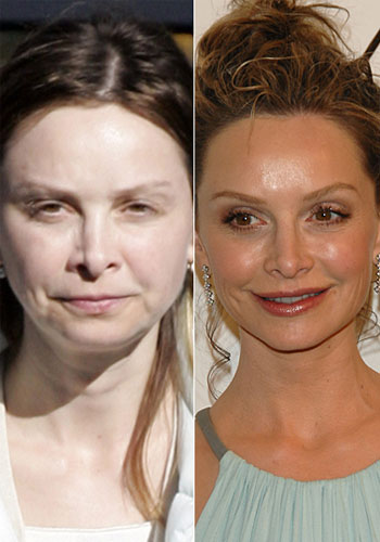 Calista Flockhart recien levantada