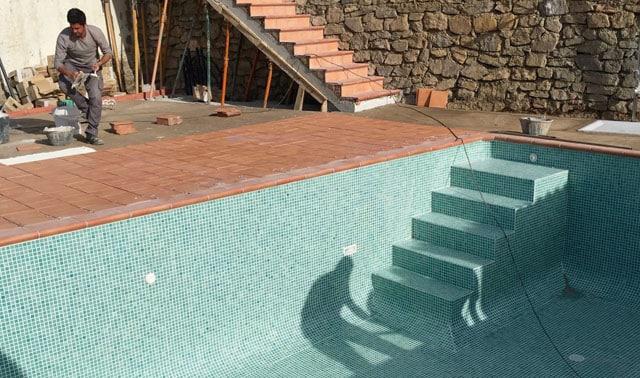 construccion de piscina y circuito depuración