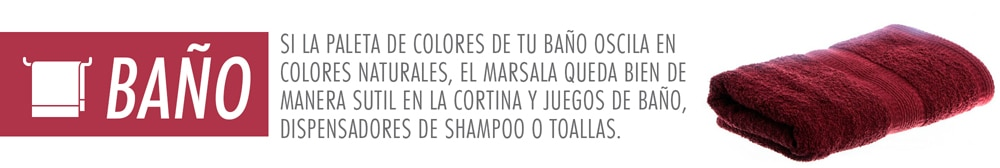 color marsala en el baño
