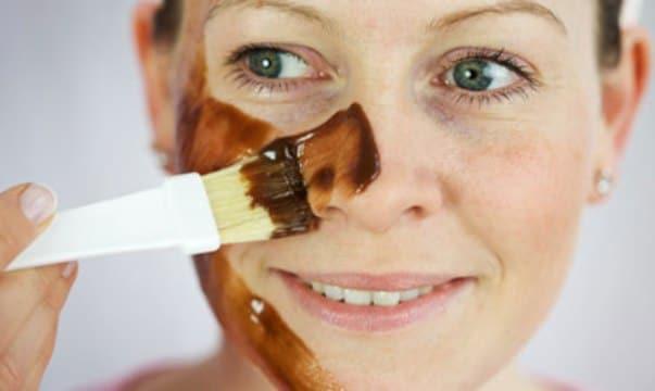 mascarillas para la cara de chocolate