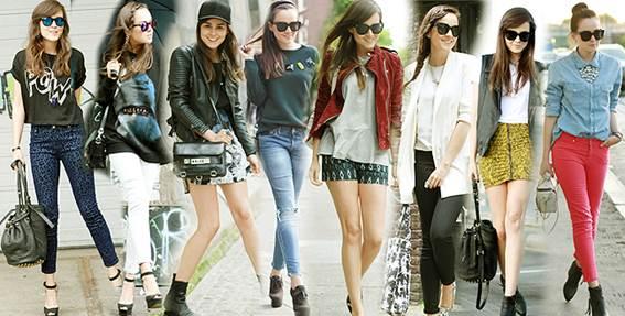 moda hipster y prendas retro o vintage