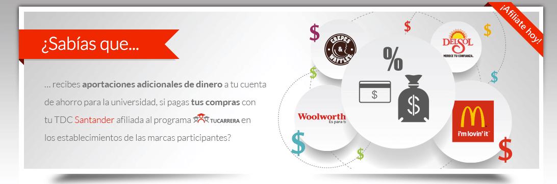 programa de recompensas de santander para los universitarios de mexico