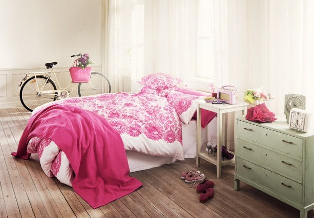 Como decorar una habitaci n estilo vintage - Habitacion rosa palo ...